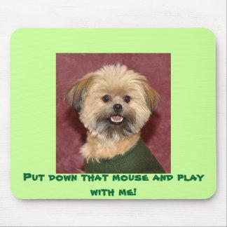 Put besegrar den mus och leker med mig! musmatta