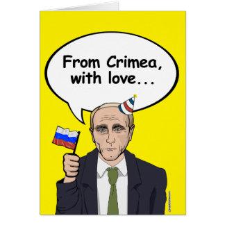 Putin födelsedagkort - från Crimea med kärlek - - Hälsningskort