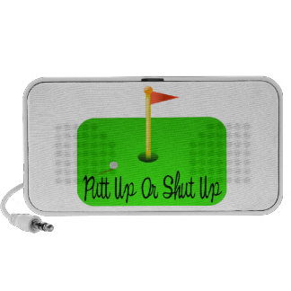 Putt Up Or Shut Up Golf iPod Speakers