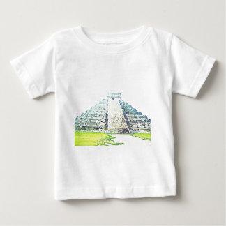 Pyramid av den Chichen Itza vattenfärgdesignen Tröjor