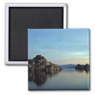 Pyramid sjö, solnedgång, Nevada Magnet