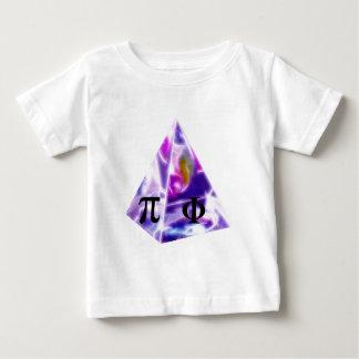 Pyramid symbolet Pi och det guld- förhållandet Tee Shirt