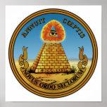 Pyramiden & ögat - allt seende öga - underbaren fö posters