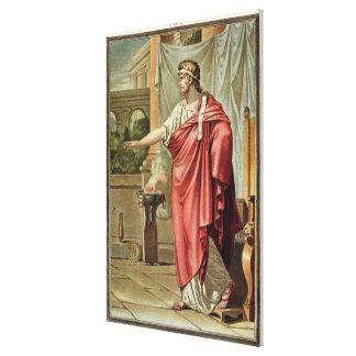 """Pyrrhus dräkt för """"Andromache"""" vid Jean Racine, Canvastryck"""
