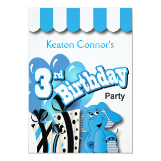 Pys 3rd födelsedagsfest 12,7 x 17,8 cm inbjudningskort