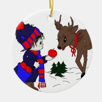 Pys och ren jul dekorationer