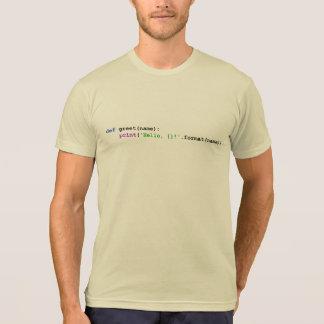 Pytonormhälsningskjortor och toppar tee