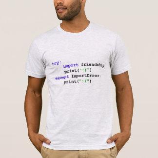 Pytonormprogram: Låt oss vara vänner Tee Shirt