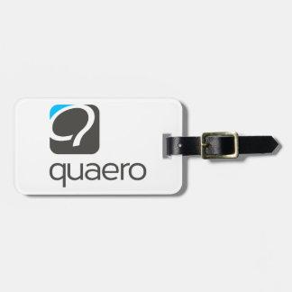 Q-bagagemärkren - Quaero blått Bagagebricka