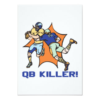 QB-mördare 12,7 X 17,8 Cm Inbjudningskort