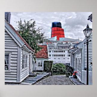 QE2 på Stavanger Poster