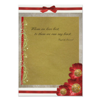 Qoute av kärlekinbjudan 8,9 x 12,7 cm inbjudningskort
