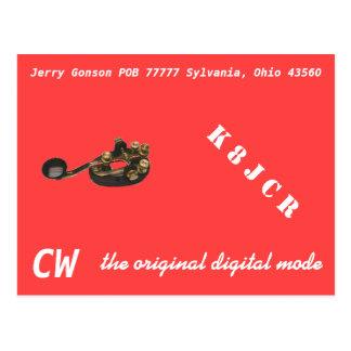 QSL-kort - CW det original- digitala Vykort