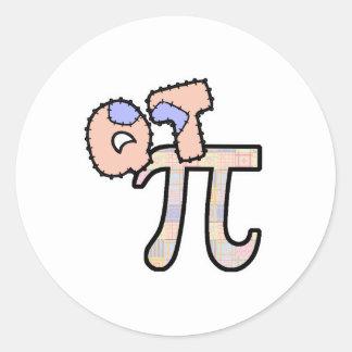 QT Pi Cutie Pi Runt Klistermärke