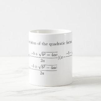 Quadratic formelmugg för Math Kaffemugg