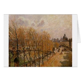 Quai Malaquais, morgon av Camille Pissarro Hälsningskort