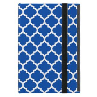 Quatrefoil koboltblått iPad mini skydd