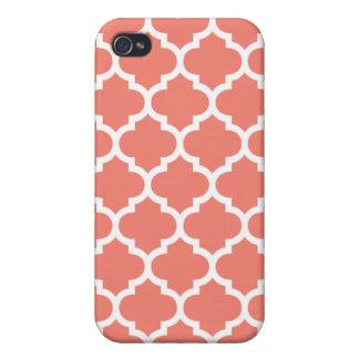 Quatrefoil korall iPhone 4 cover
