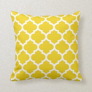 Quatrefoil kudder - citronen - det gula mönster kudde