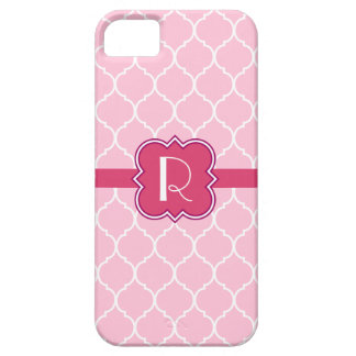 Quatrefoil mönster med monogramen iPhone 5 Case-Mate skal