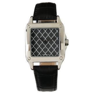 Quatrefoil mönsterklocka armbandsur
