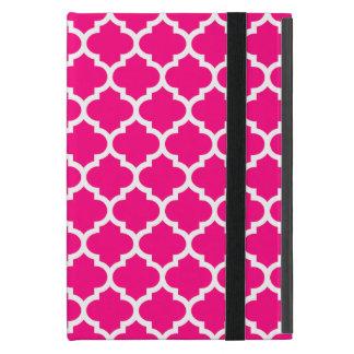 Quatrefoil shock rosa iPad mini skydd