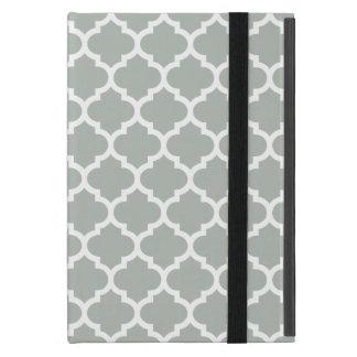Quatrefoil silvergrått iPad mini skal