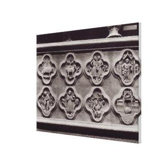Quatrefoils med teckenet av zodiacen canvastryck