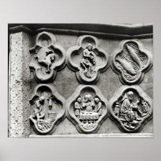 Quatrefoils med teckenet av zodiacen poster