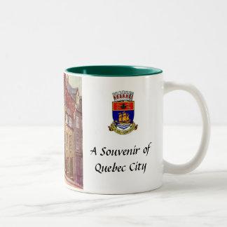 Quebec City souvenirmugg Två-Tonad Mugg