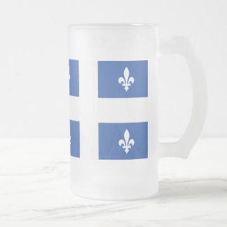 Quebec flagga frostat ölglas