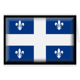 Quebec (Kanada) flagga Hälsningskort