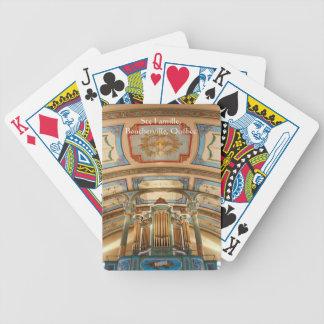 Quebec organ som leker kort spelkort
