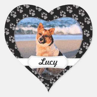 Queensland röda Heeler - Lucy Hjärtformat Klistermärke