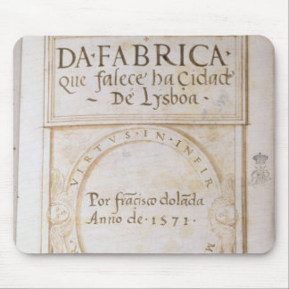 Quefalece ha Cidade de Lysboa' för Da Fabrica Musmatta