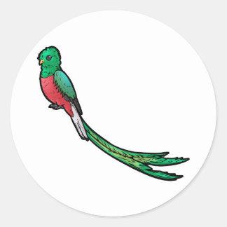 Quetzal Runt Klistermärke