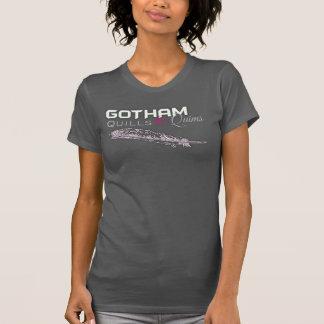 Quills- & Quims kvinna Racerback - svart - Logo1 Tshirts