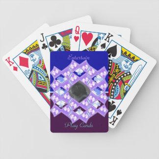 Quilted vinkar lappar med fotoutrymme spelkort