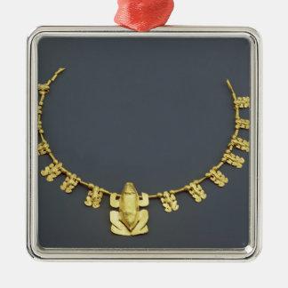 Quimbaya halsband med grodor, från Colombia Julgransprydnad Metall