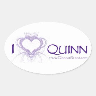 Quinn Ovalt Klistermärke