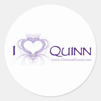 Quinn Runt Klistermärke