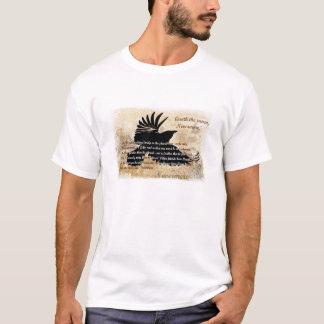 Quoth den korpsvarta Nevermore Edgar Allan Poe Tee Shirt