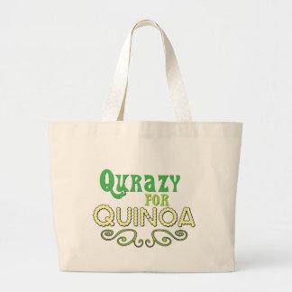 Qurazy för Quinoa© - rolig Quinoaslogan Jumbo Tygkasse