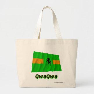 QwaQwa som vinkar flagga med namn Tygkassar