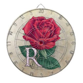 R för rosa blom- alfabetMonogram Piltavla