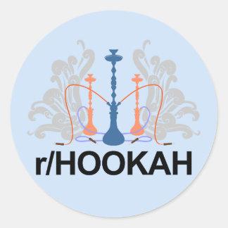 r-/Hookahklistermärkemörk Runt Klistermärke