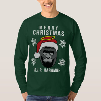 R.I.P. Harambe ful jultröja T Shirt