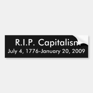 R.I.P. Kapitalism Bildekal