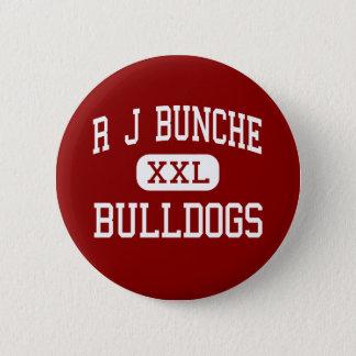 R J Bunche - bulldoggar - mittet - Metairie Standard Knapp Rund 5.7 Cm