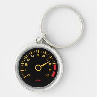 r/minmätinstrument - kallt bilmätinstrument rund silverfärgad nyckelring